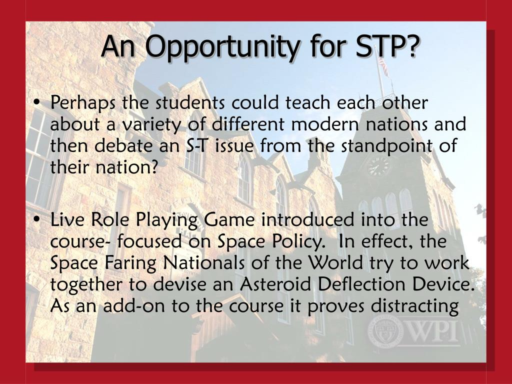 An Opportunity for STP?