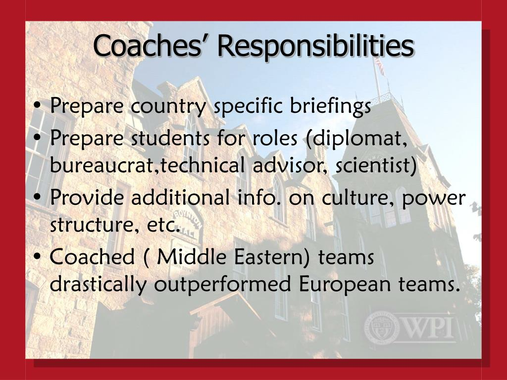 Coaches' Responsibilities
