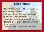 game format