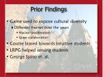 prior findings
