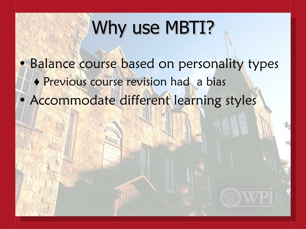 Why use MBTI?