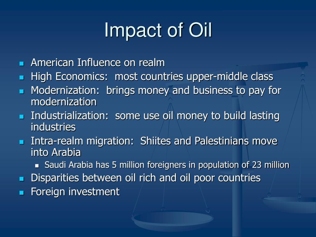 Impact of Oil