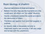 basic ideology of jihadism