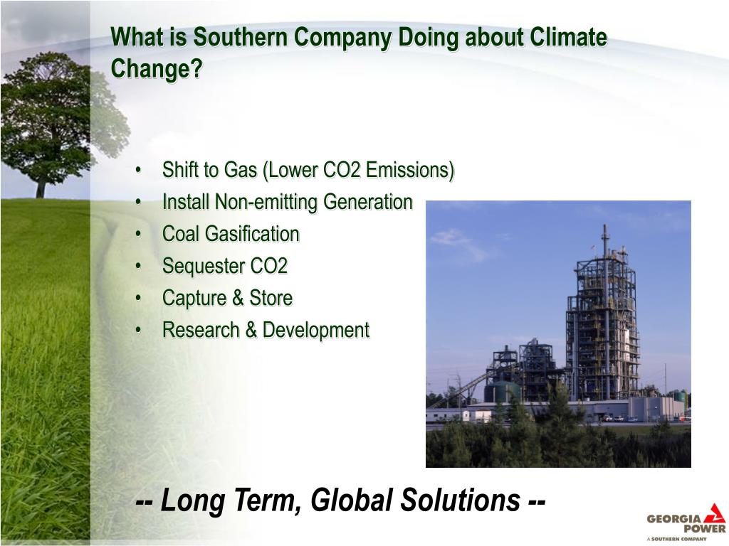 What is Southern Company Doing about Climate Change?