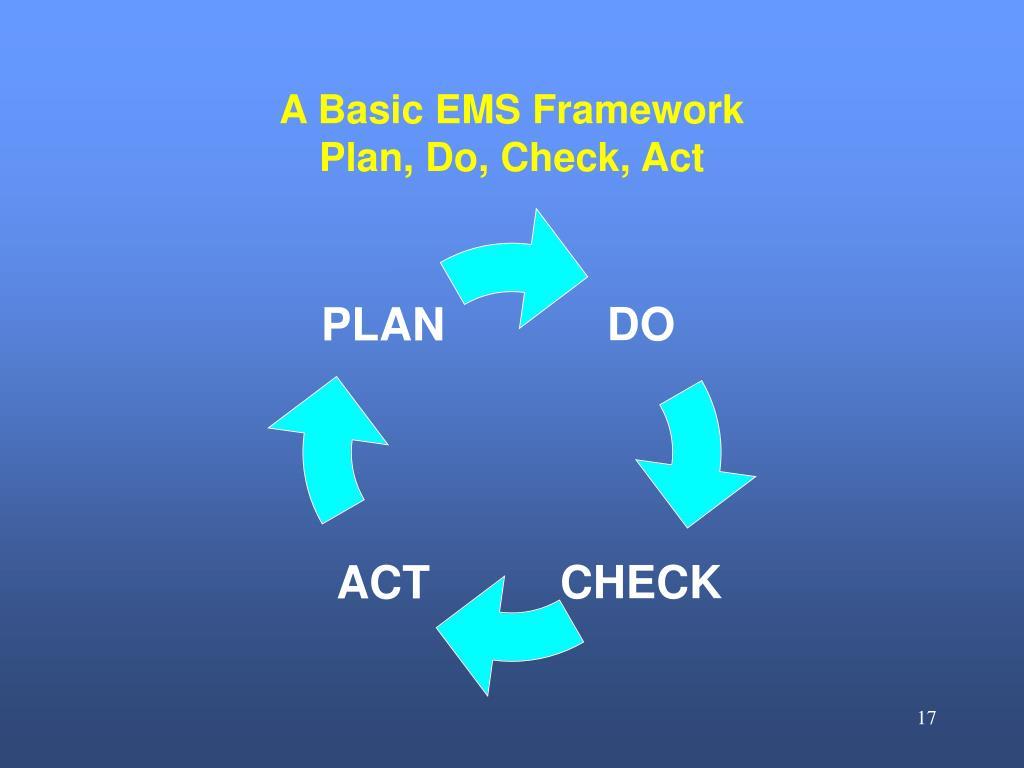 A Basic EMS Framework