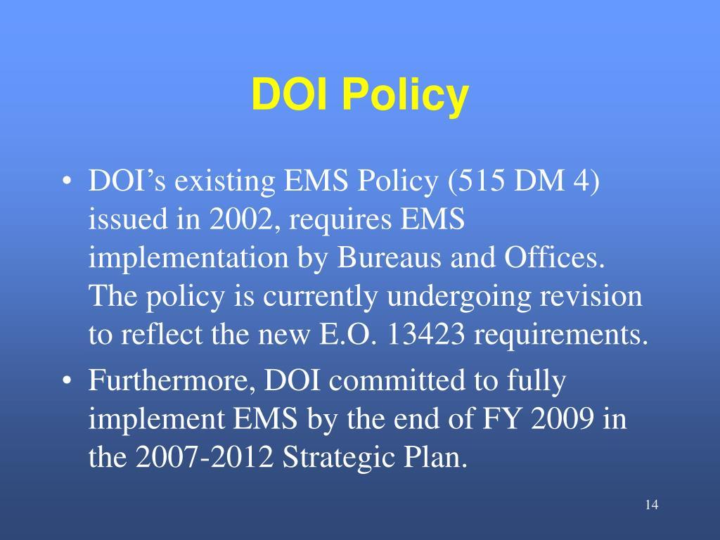 DOI Policy