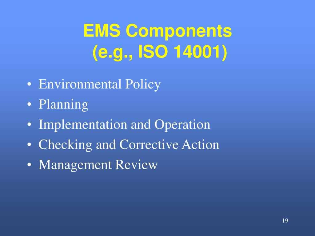 EMS Components