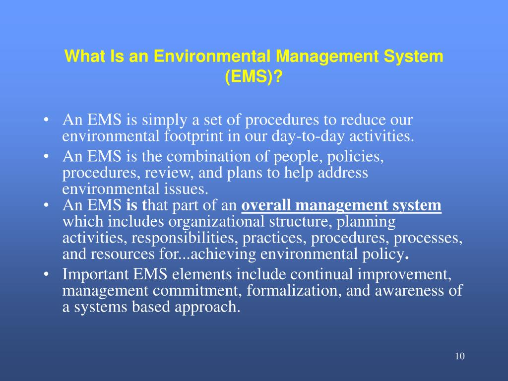 What Is an Environmental Management System (EMS)?