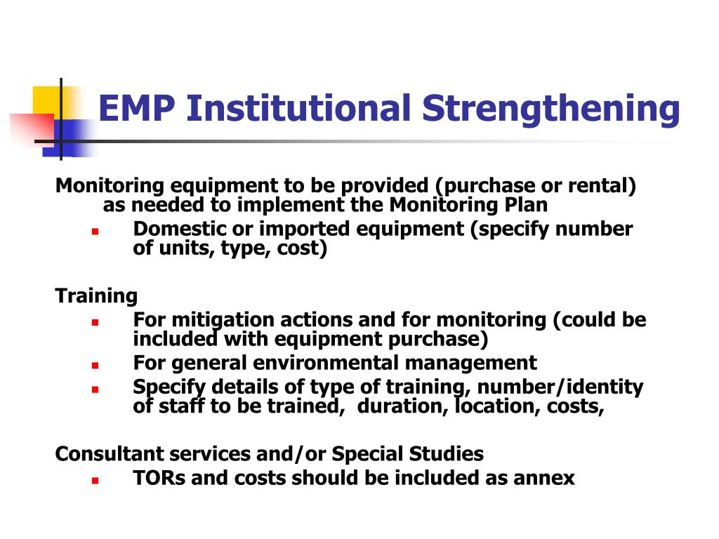 EMP Institutional Strengthening
