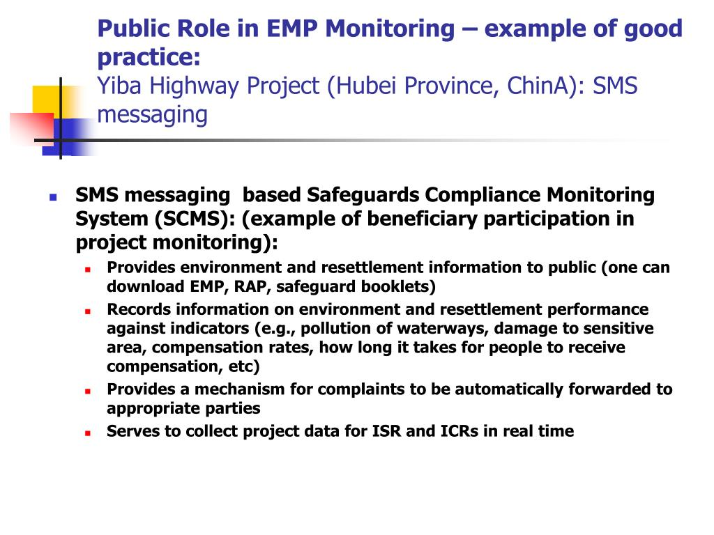 Public Role in EMP Monitoring – example of good practice: