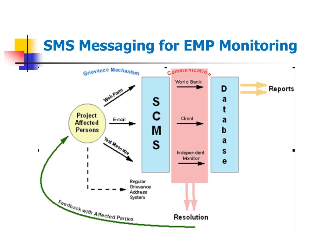 SMS Messaging for EMP Monitoring