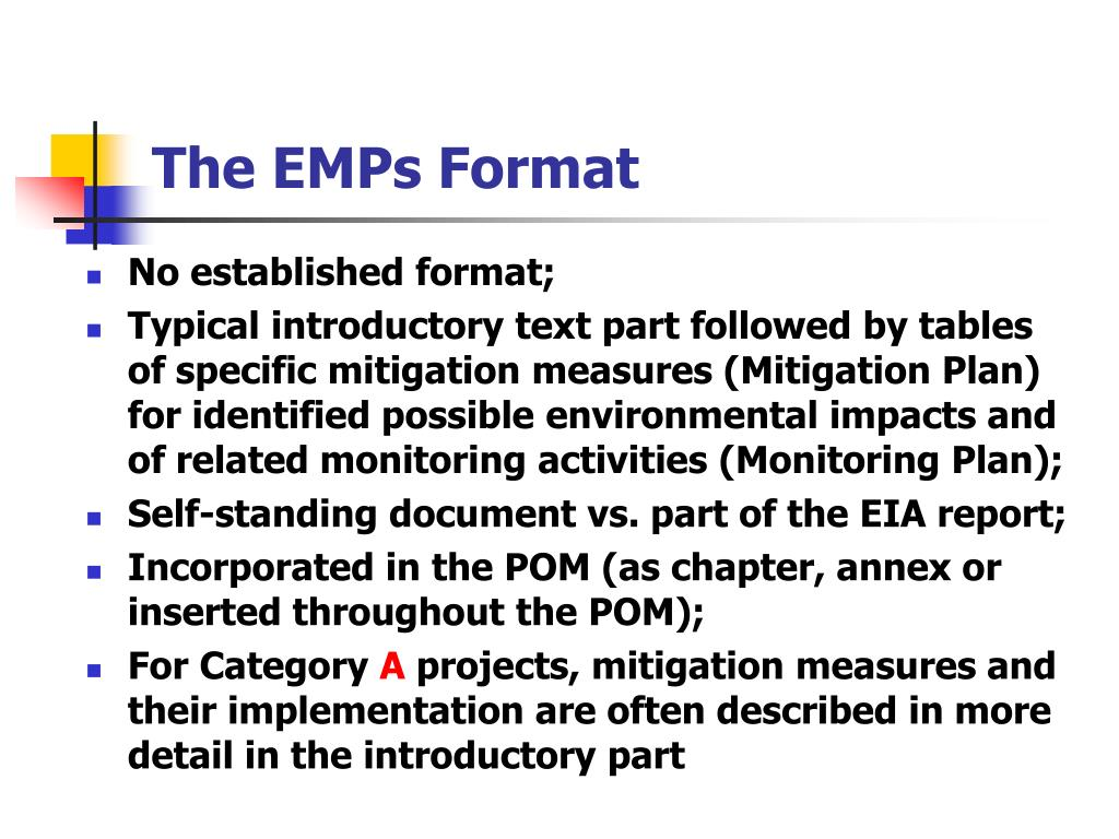 The EMPs Format