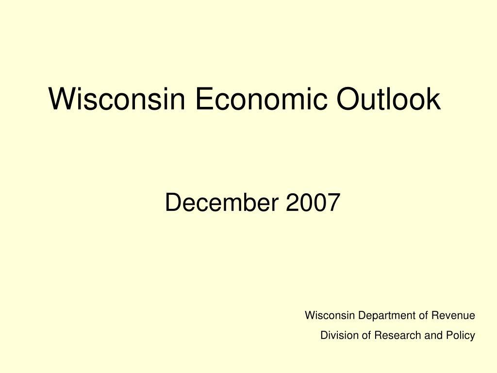 Wisconsin Economic Outlook