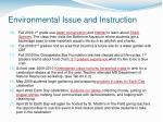environmental issue and instruction6