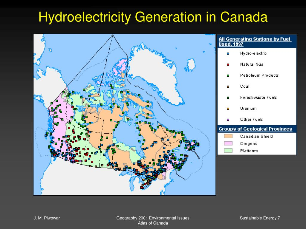 Hydroelectricity Generation in Canada