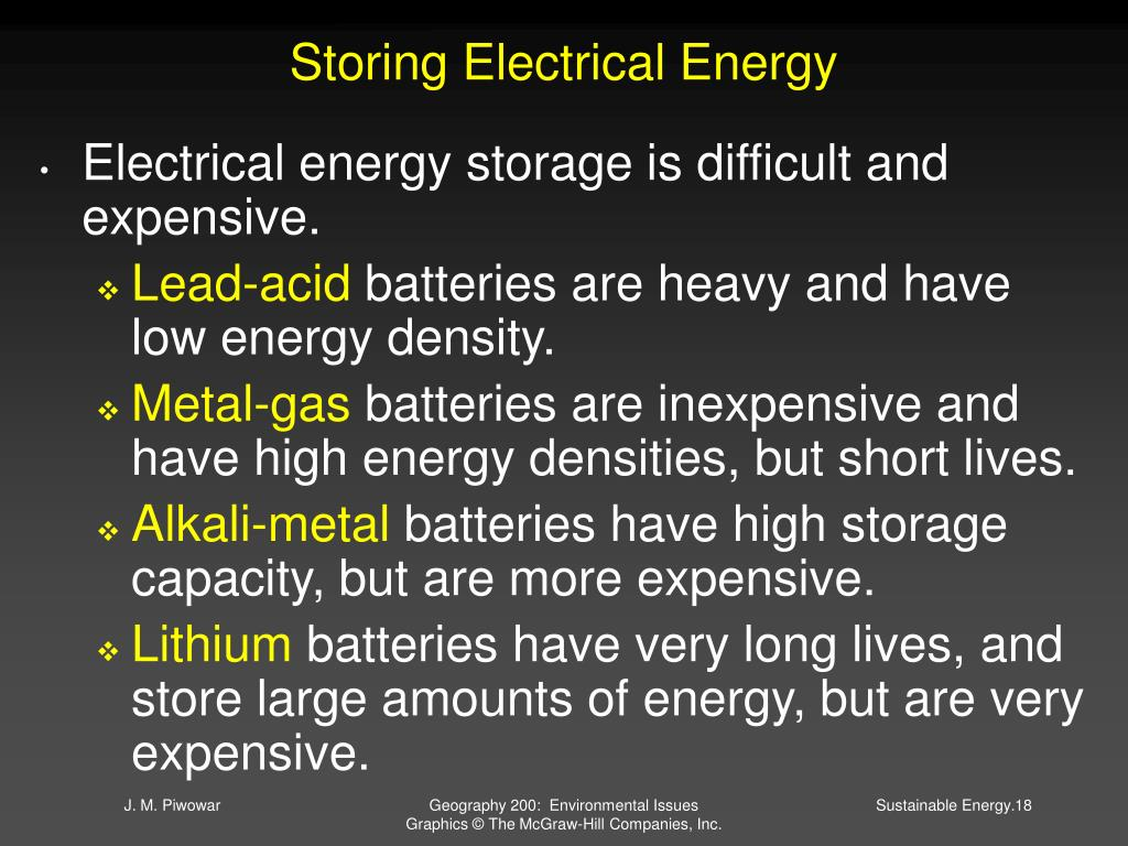 Storing Electrical Energy