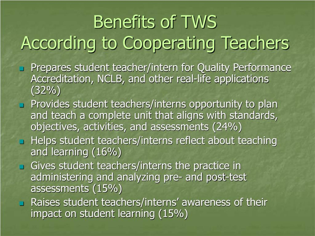 Benefits of TWS