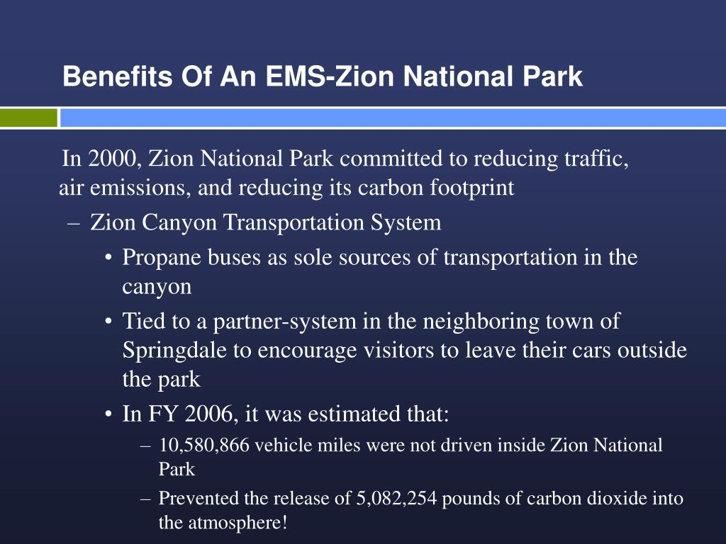 Benefits Of An EMS-Zion National Park