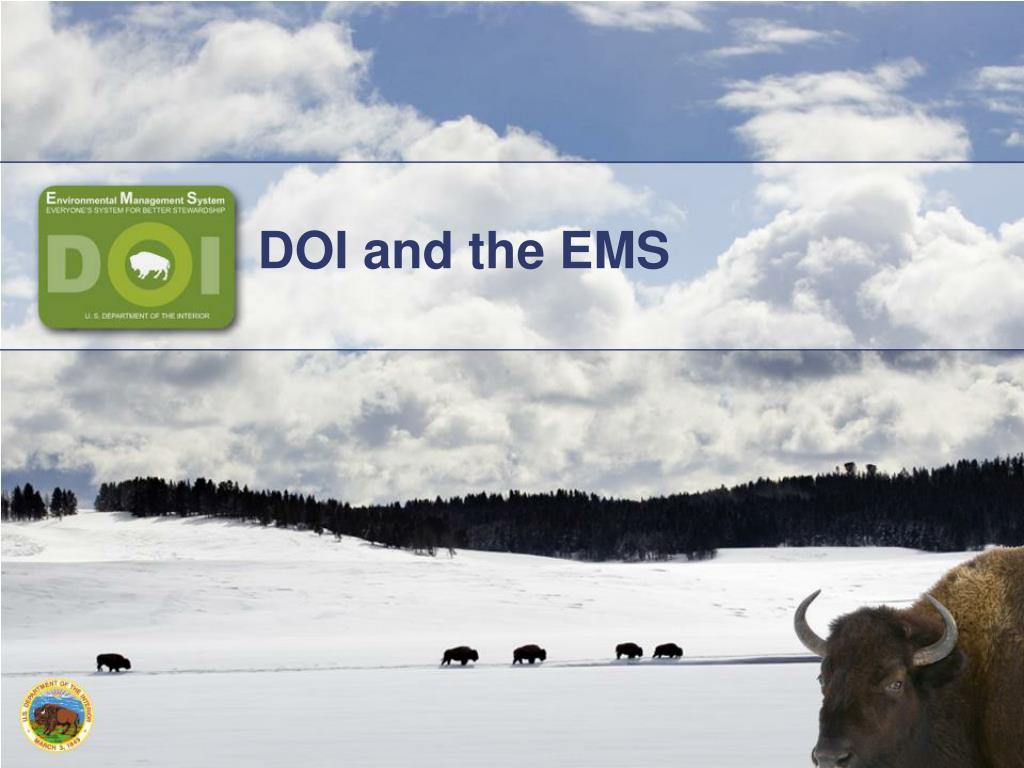 DOI and the EMS