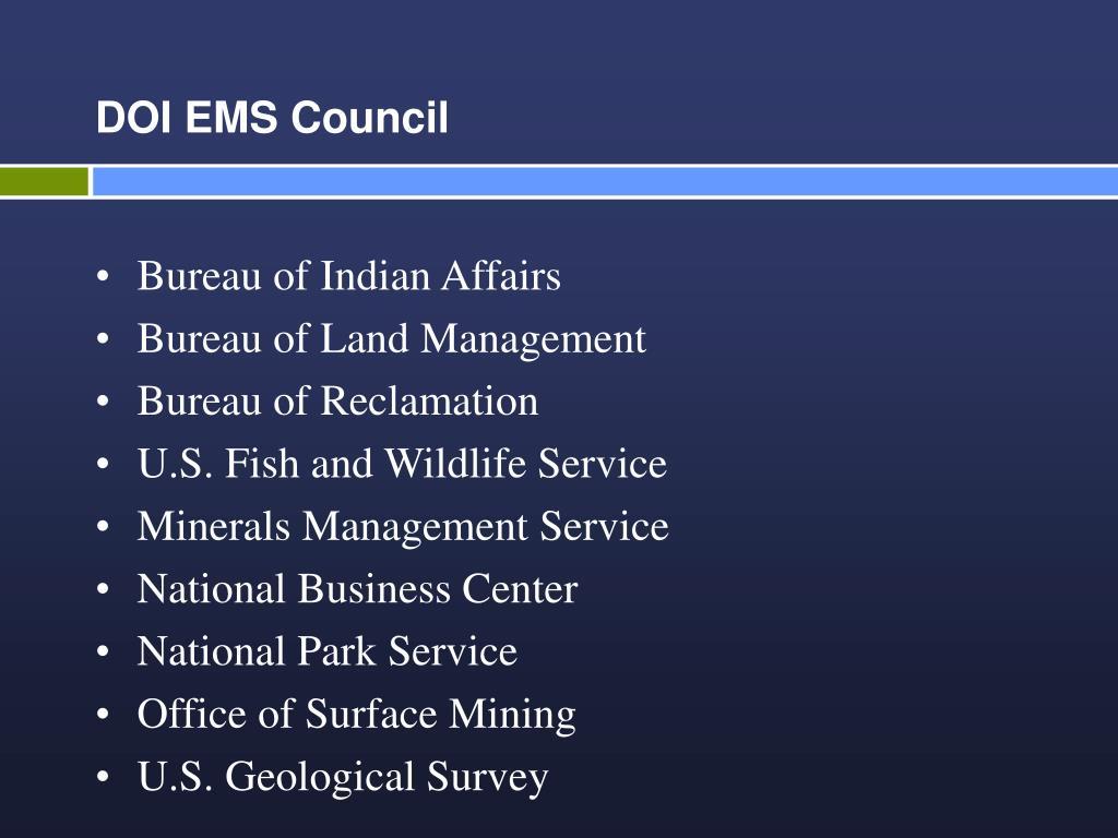 DOI EMS Council