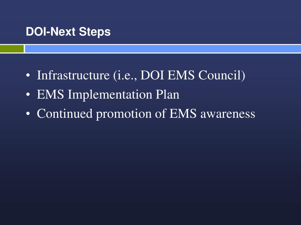 DOI-Next Steps