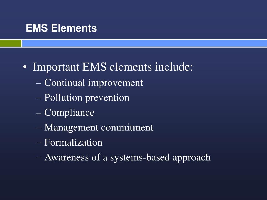 EMS Elements