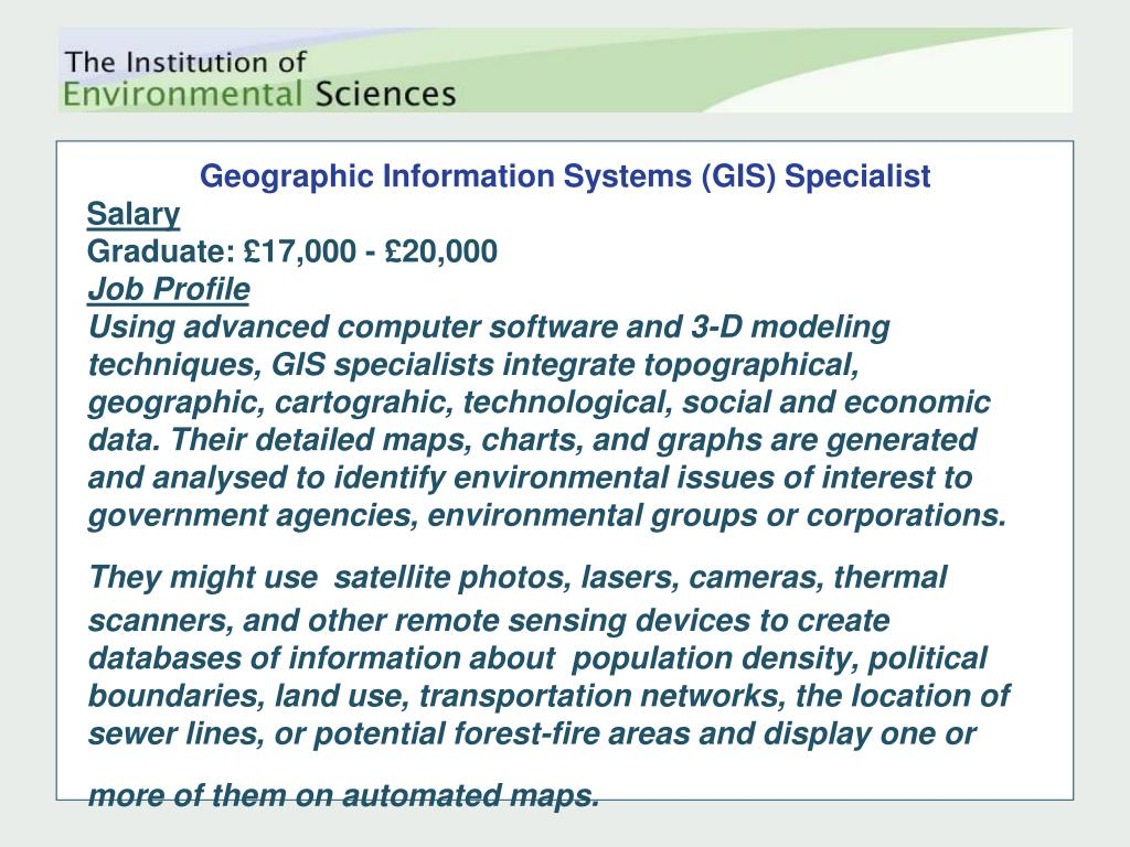 Geographic Information Systems (GIS) Specialist