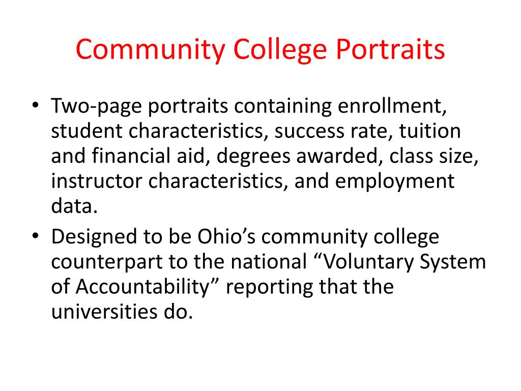 Community College Portraits
