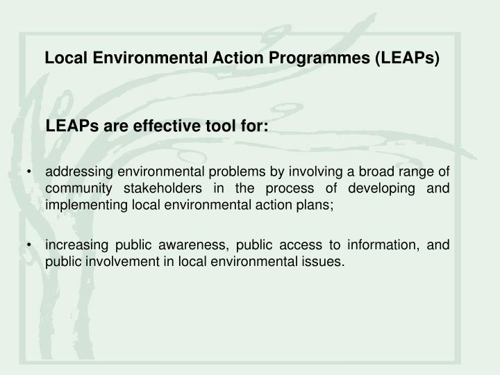 Local environmental action programmes leaps