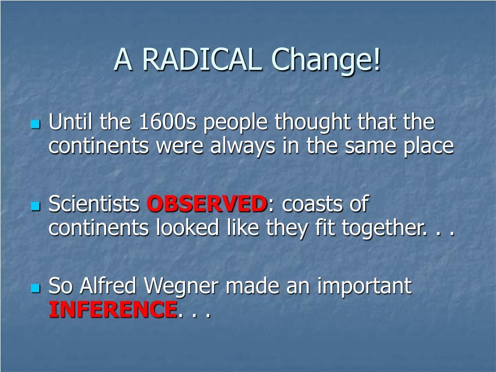 RADICALS AND RADICALISM