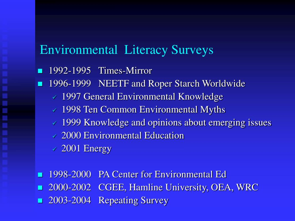 Environmental  Literacy Surveys