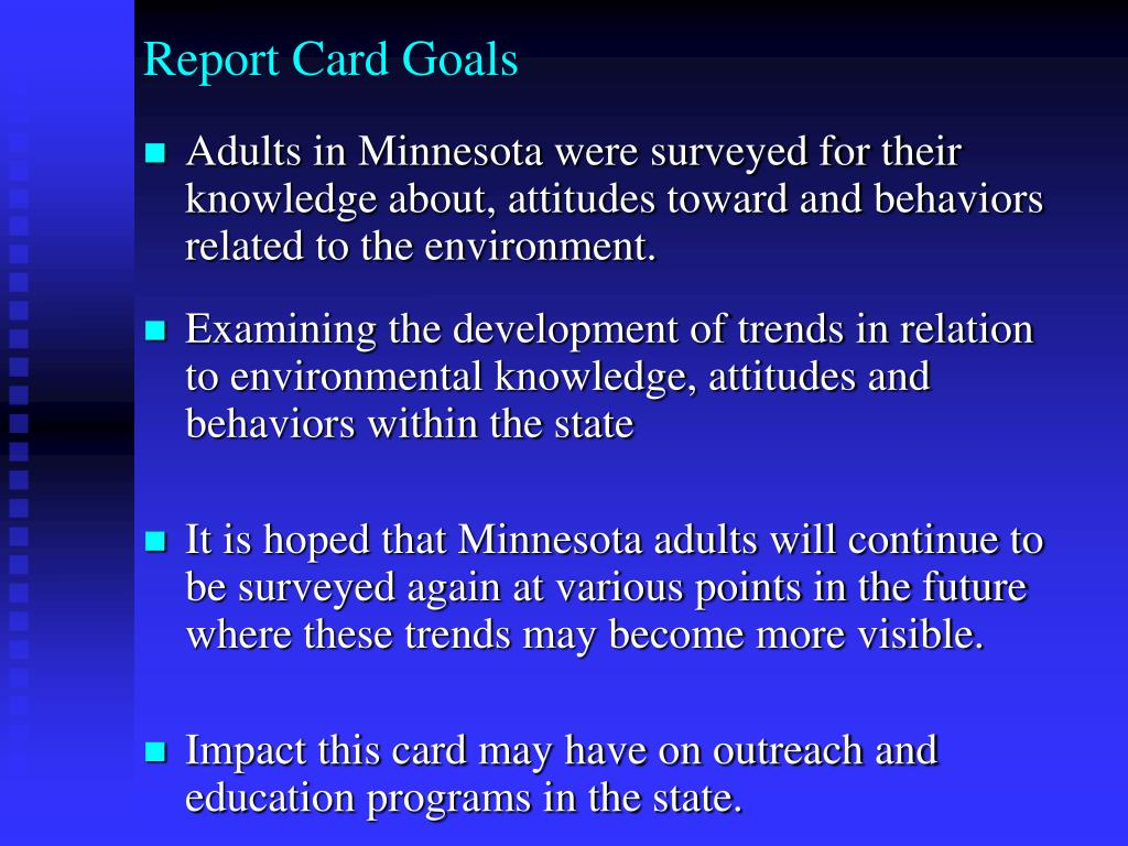 Report Card Goals