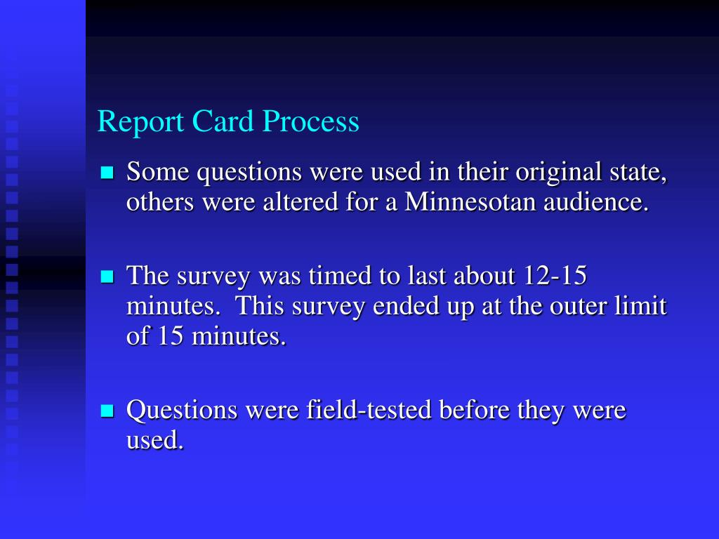 Report Card Process