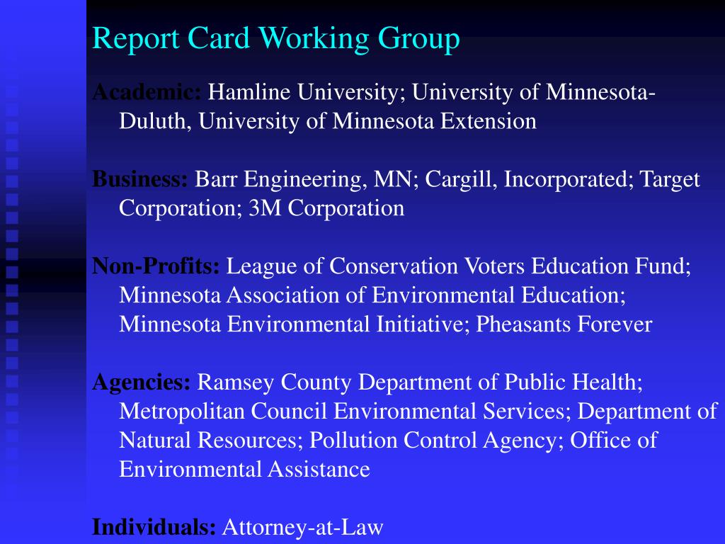 Report Card Working Group