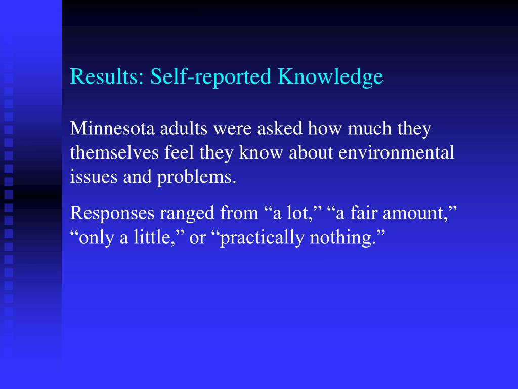 Results: Self-reported Knowledge