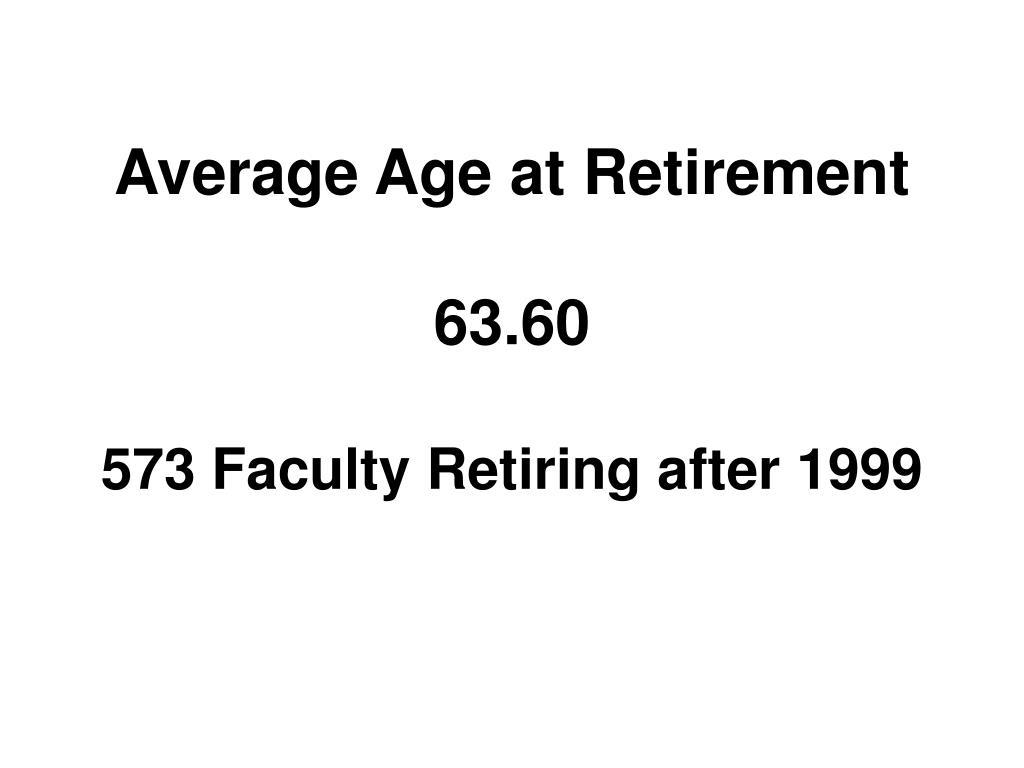 Average Age at Retirement