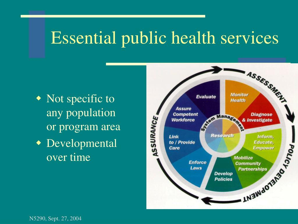 Essential public health services