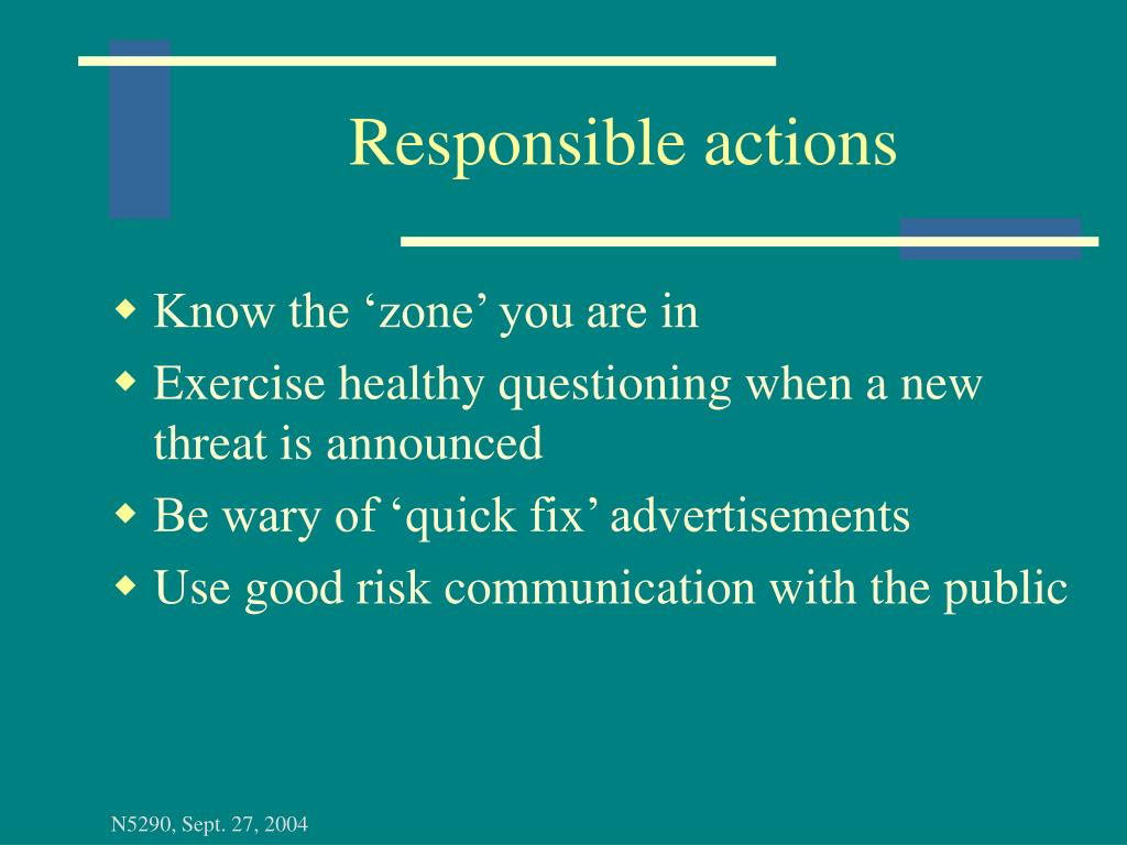 Responsible actions