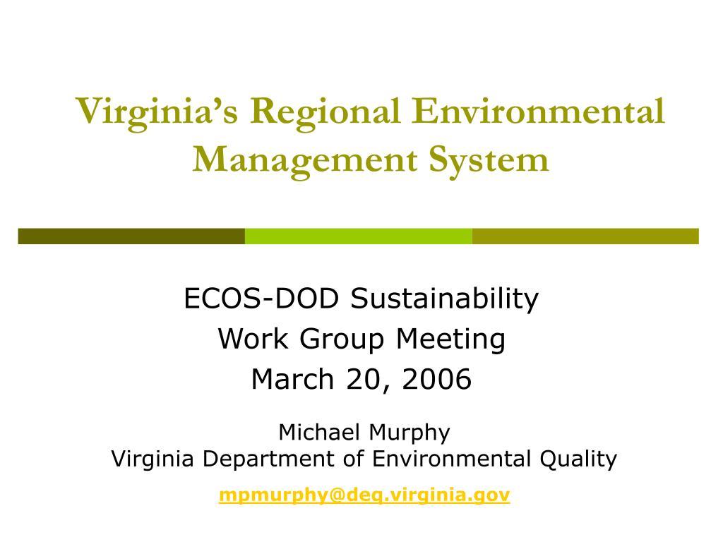 Virginia's Regional Environmental