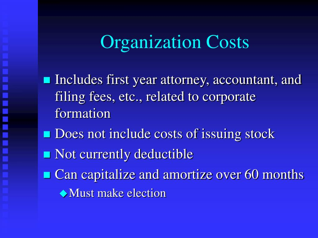 Organization Costs