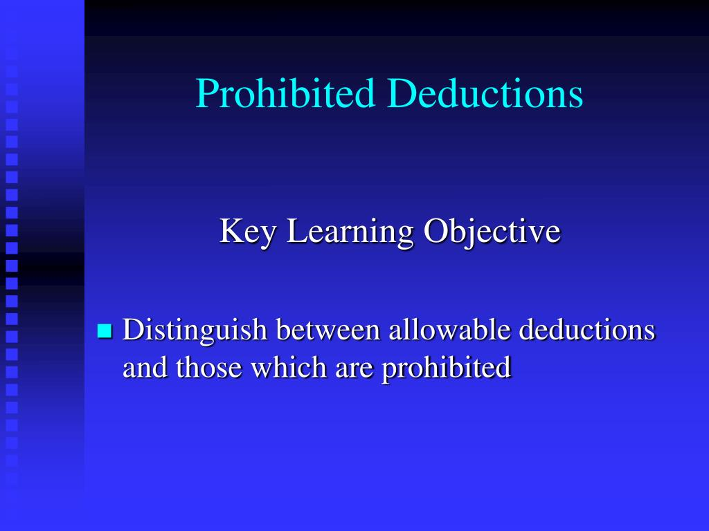 Prohibited Deductions