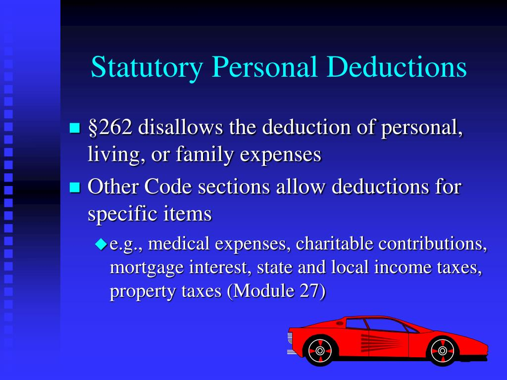 Statutory Personal Deductions