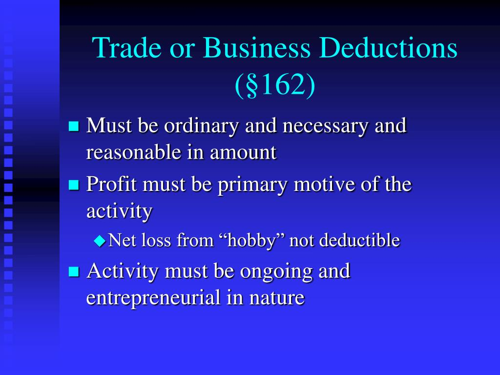 Trade or Business Deductions