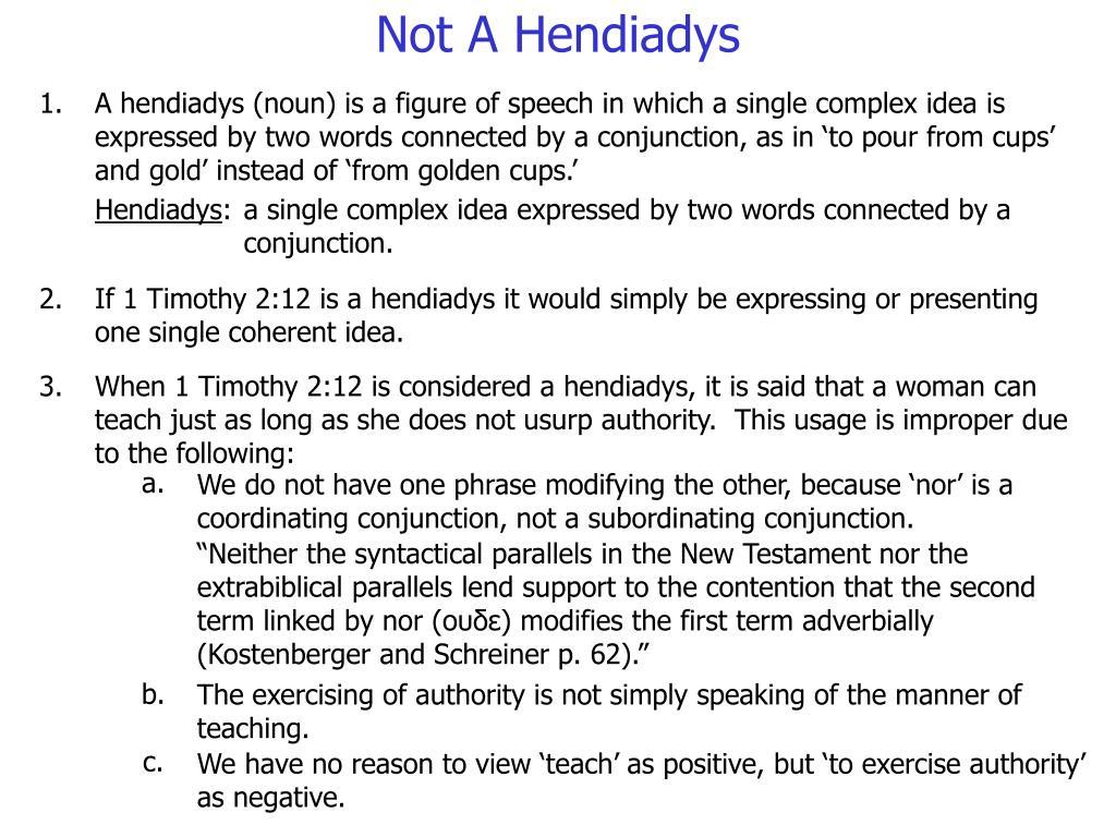 Not A Hendiadys