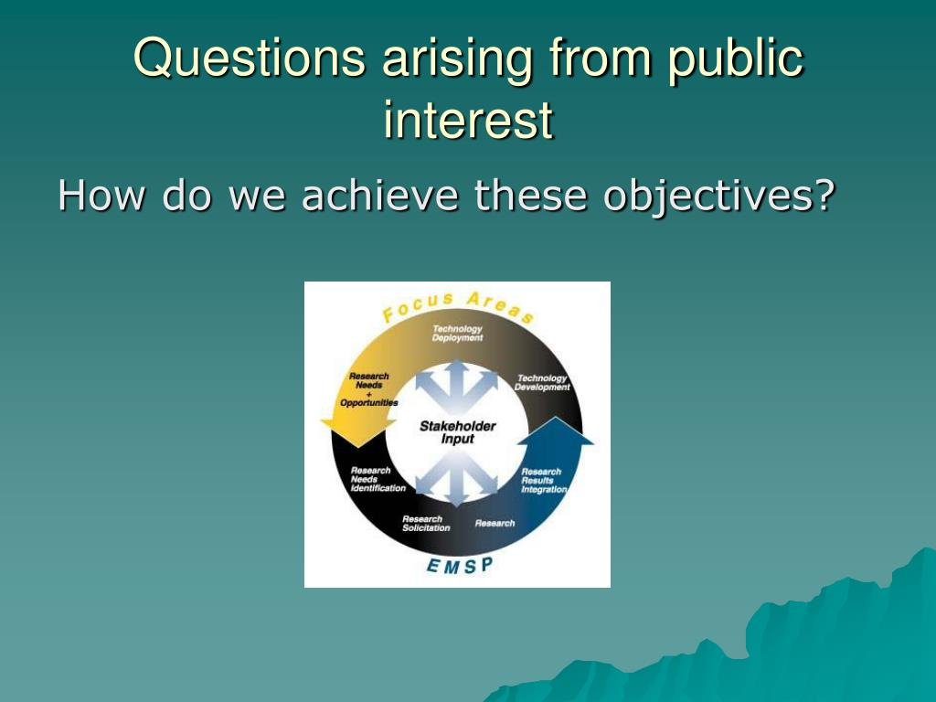 Questions arising from public interest