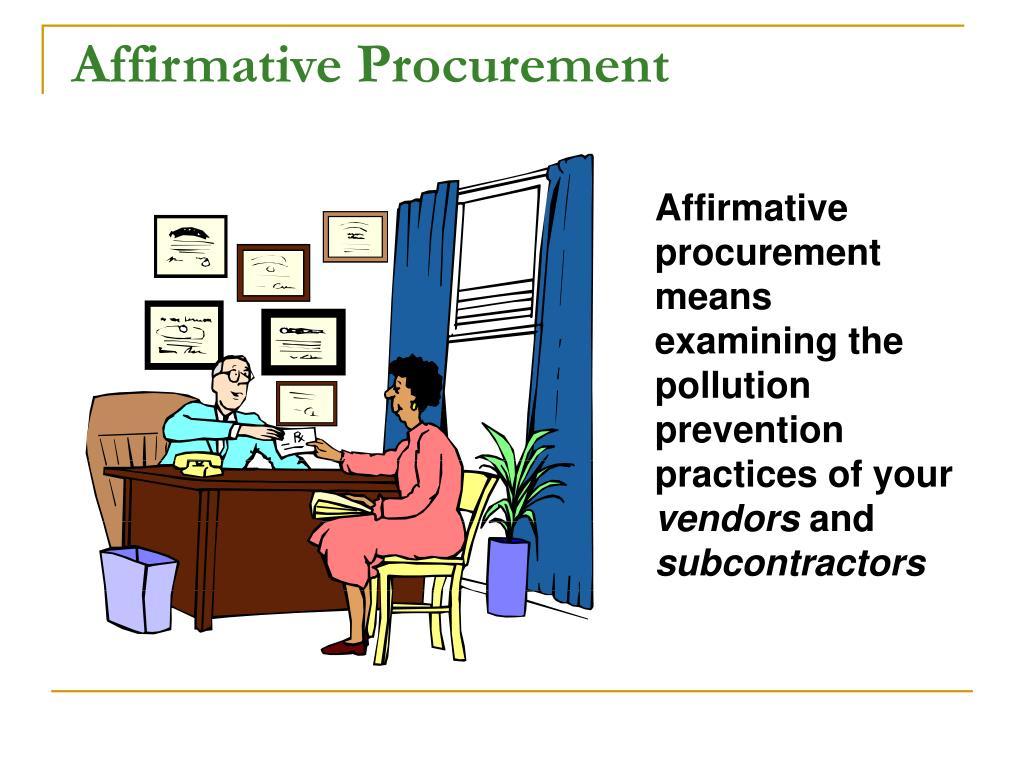 Affirmative Procurement