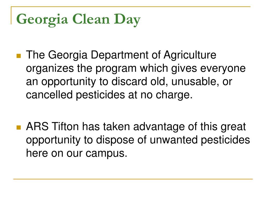 Georgia Clean Day