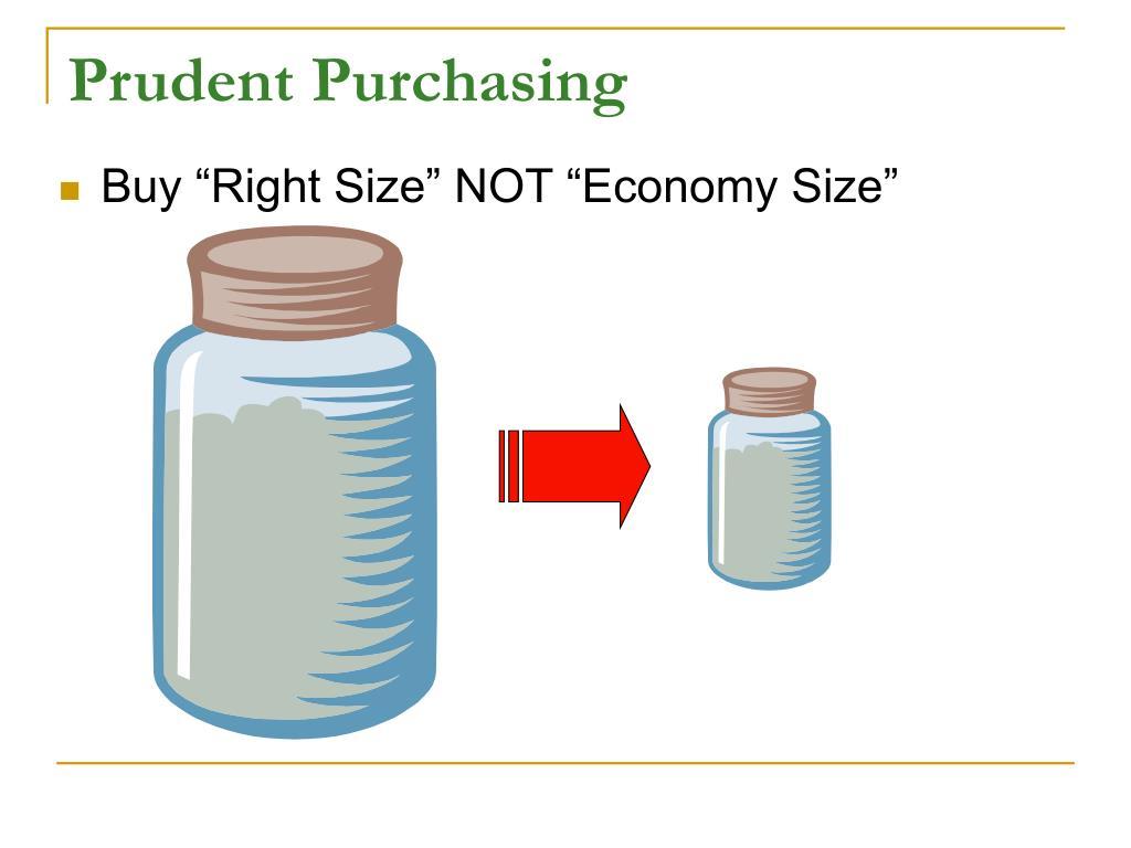 Prudent Purchasing