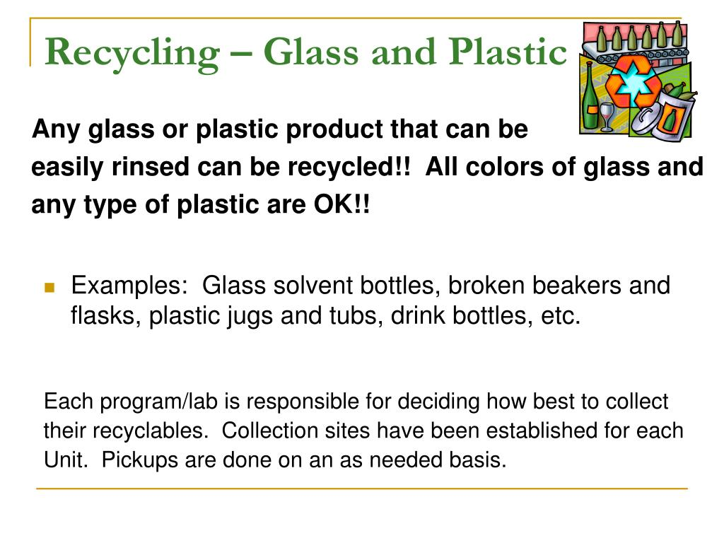 Recycling – Glass and Plastic