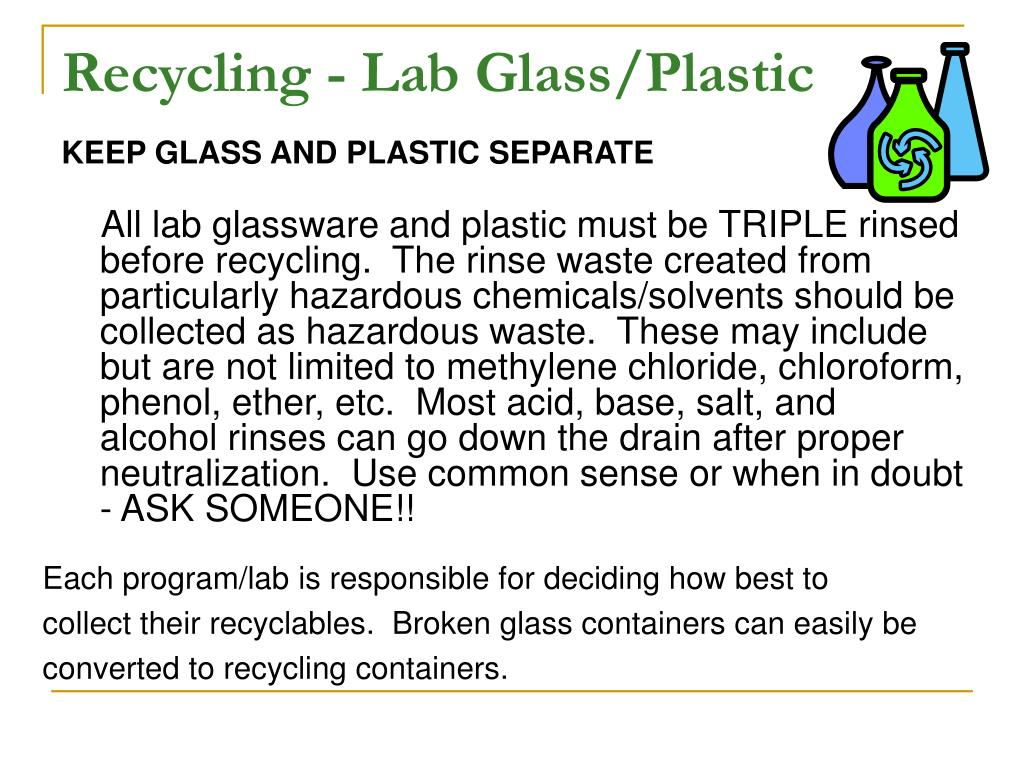 Recycling - Lab Glass/Plastic